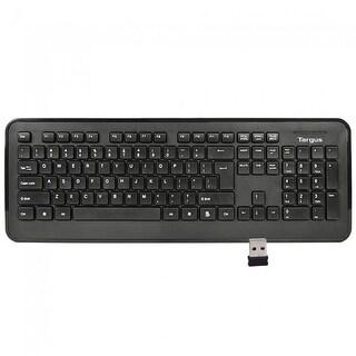 NEW - NEW Targus KB214 2.4GHz 104-KEY Black Wireless Keyboard with USB Receiver