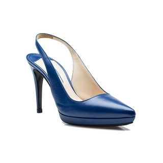 Prada Women's Royal Blue High Heel Shoes - 9