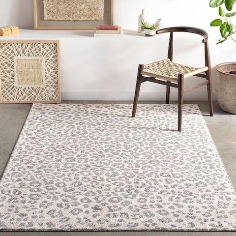 Moodie Modern Leopard Print Area Rug