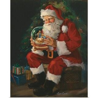 Susan Comish Poster Print entitled Santa Believes - multi-color
