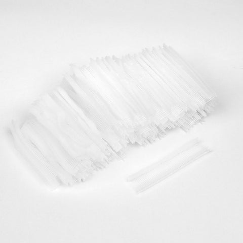 15mm Long PP Fine Tag Pins Fasteners Clear White 5000 Pcs