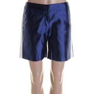 Kalmanovich Womens Casual Shorts Silk Contrast Trim - 4