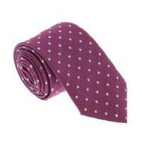 Missoni U5279 Pink/White Polka Dot 100% Silk Tie - 60-3