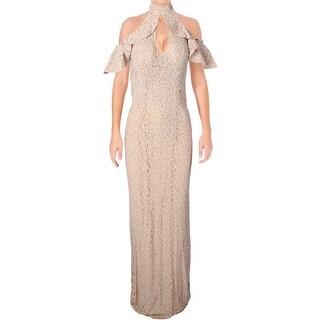 Jovani Lace Open Back Formal Dress