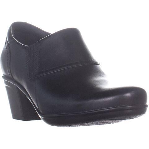 bf5785976a78 Clarks Emslie Craft Zip Up Block Heel Ankle Boots
