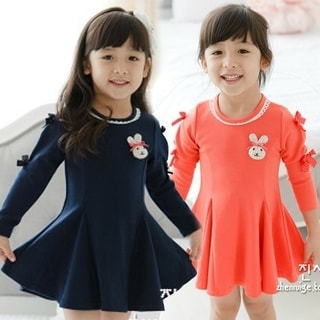 Shop Spring/Autumn Korean Style Girls Cotton Princess Dress, Kids Long-sleeved Dress - Free Shipping On Orders Over $45 - Overstock.com - 23169514