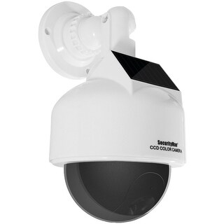 Securityman Solar-powered Speed Dome Dummy Camera With Flashing Led