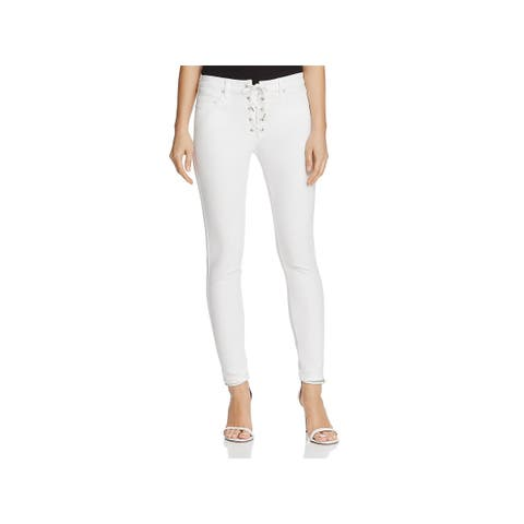 Blank NYC Womens Skinny Jeans Lace-Up Classic