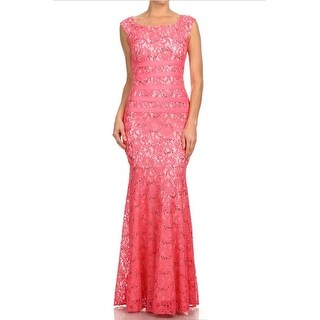Sequin Lace Fit & Flare Gown