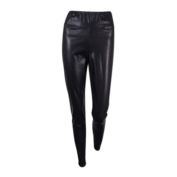 6aa3fcf1ec4f4 Shop Lauren Ralph Lauren Women's Faux Leather Leggings - Black - Free  Shipping Today - Overstock - 17795530