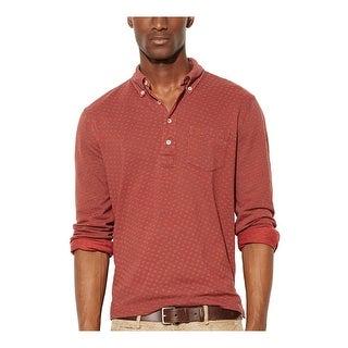 Ralph Lauren RL Featherweight Button Down Mesh Polo Shirt XX-Large Burgundy