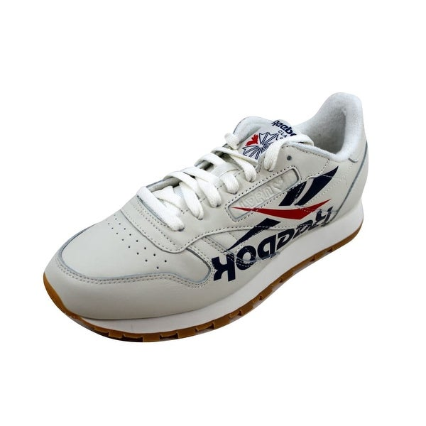 e8a8b1a16be5 Shop Reebok Men s Classic Leather 3AM ATL Chalk Washed Blue-Red ...