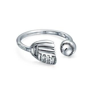 Bling Jewelry Mens Sterling Silver Baseball Key Ring