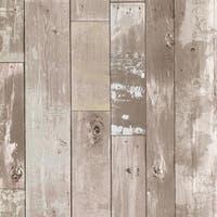Brewster 347-20132 Heim 56 Sq.Ft. Distressed Wood Imitating Wallpaper - One Roll