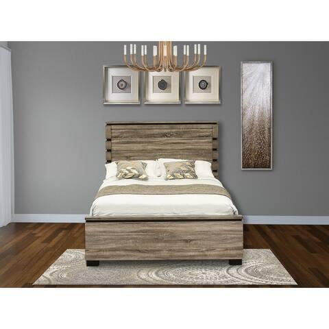 SA02-Q00000 Fantastic Antique Gray Queen Bed- Queen Bed