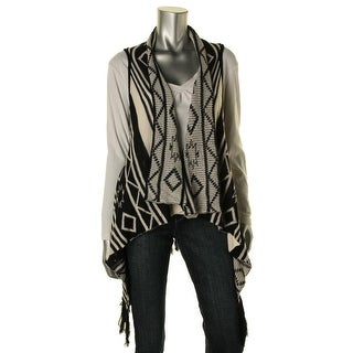 Jack Womens Printed Fringe Sweater Vest
