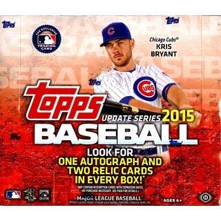 2015 Topps Update MLB Baseball Jumbo Box - One Autograph Two Relics per Box