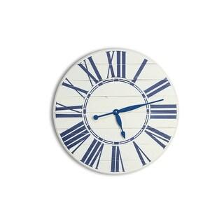 BrandtWorks Navy Nautical Oversized Wall Clock 24'' x 24''