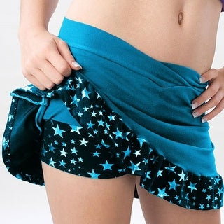 Pizzazz Girls Size 2T-16 Turquoise Superstar Ruffle Skirt Dance Cheer