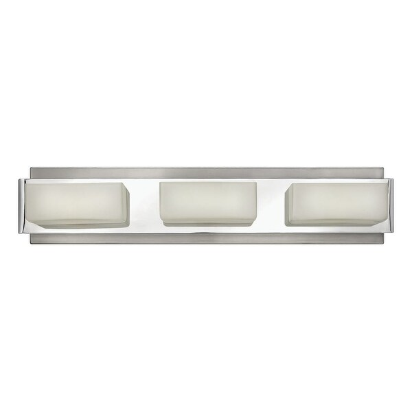 Hinkley Lighting 56423 3-Light Bathroom Vanity Light from the Domino Collection - Brushed nickel
