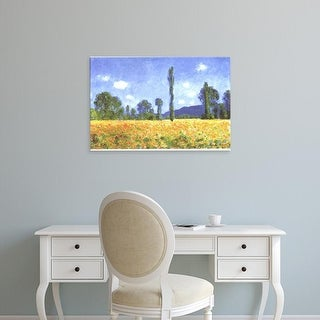Easy Art Prints Claude Monet's 'Poppy Field in Giverny' Premium Canvas Art