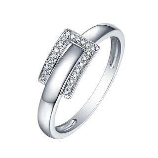 Prism Jewel 0.06CT G-H/I1 Natural Diamond Two-Tone Gold Belt Style Ring - White G-H
