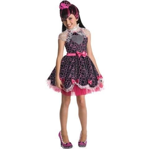 Rubies Monster High Deluxe Draculaura Sweet 1600 Child Costume - Black/Pink