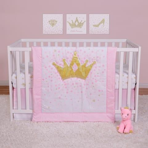Tiara Princess 4 Piece Crib Bedding Set
