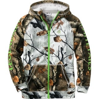 Legendary Whitetails Youth Team Legendary Full Zip Hoodie - big game snow camo