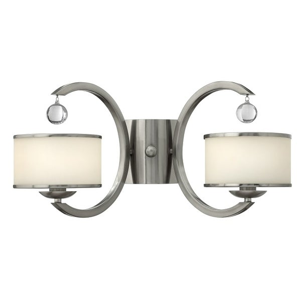Hinkley Lighting 4852 2 Light Indoor Wall Sconce from the Monaco Collection - Brushed nickel