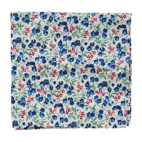 bar III Mens Floral Pocket Square, blue, One Size - One Size
