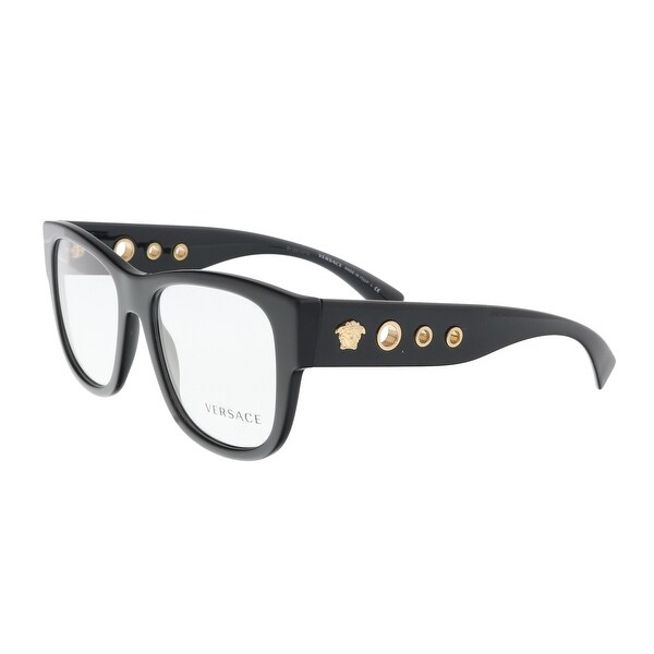 edb6c3b20b0 Shop Versace VE3230 GB1 Black Square Optical Frames - 54-18-140 ...