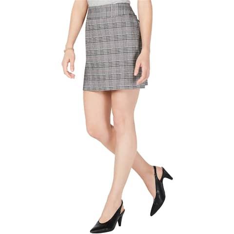 Maison Jules Womens Houndstooth Mini Skirt