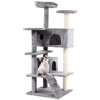 0b4e4b336b19 Kitty Mansions Tulsa Grey Faux Fur Cat Tree Free Shipping. Video Trixie  Oviedo 41 ...