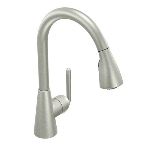 Moen S71708CSL Ascent 1-Handle Pulldown Kitchen Faucet, Classic Stainless - classic stainless