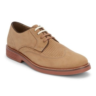 Dockers Mens Monticello Leather Dress Casual Wingtip Oxford Shoe with NeverWet