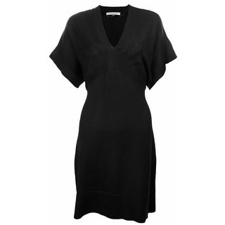 Evan Picone Women's Short Sleeve Sweater Dress Black