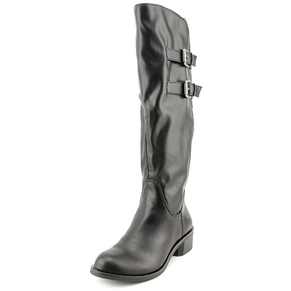 Style & Co Masen Women Round Toe Synthetic Black Mid Calf Boot