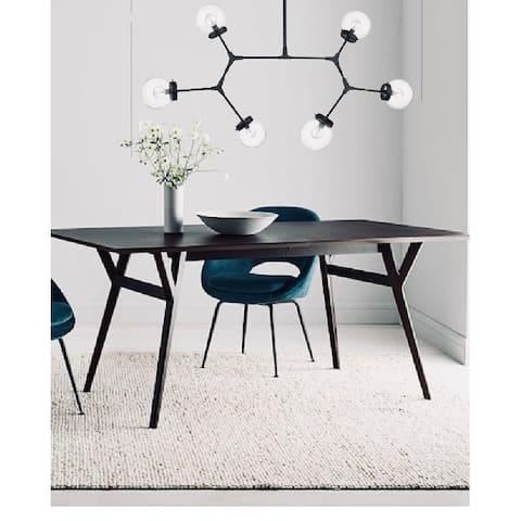 Modern Bubble Geometric Six Light Chandelier in Matte Black