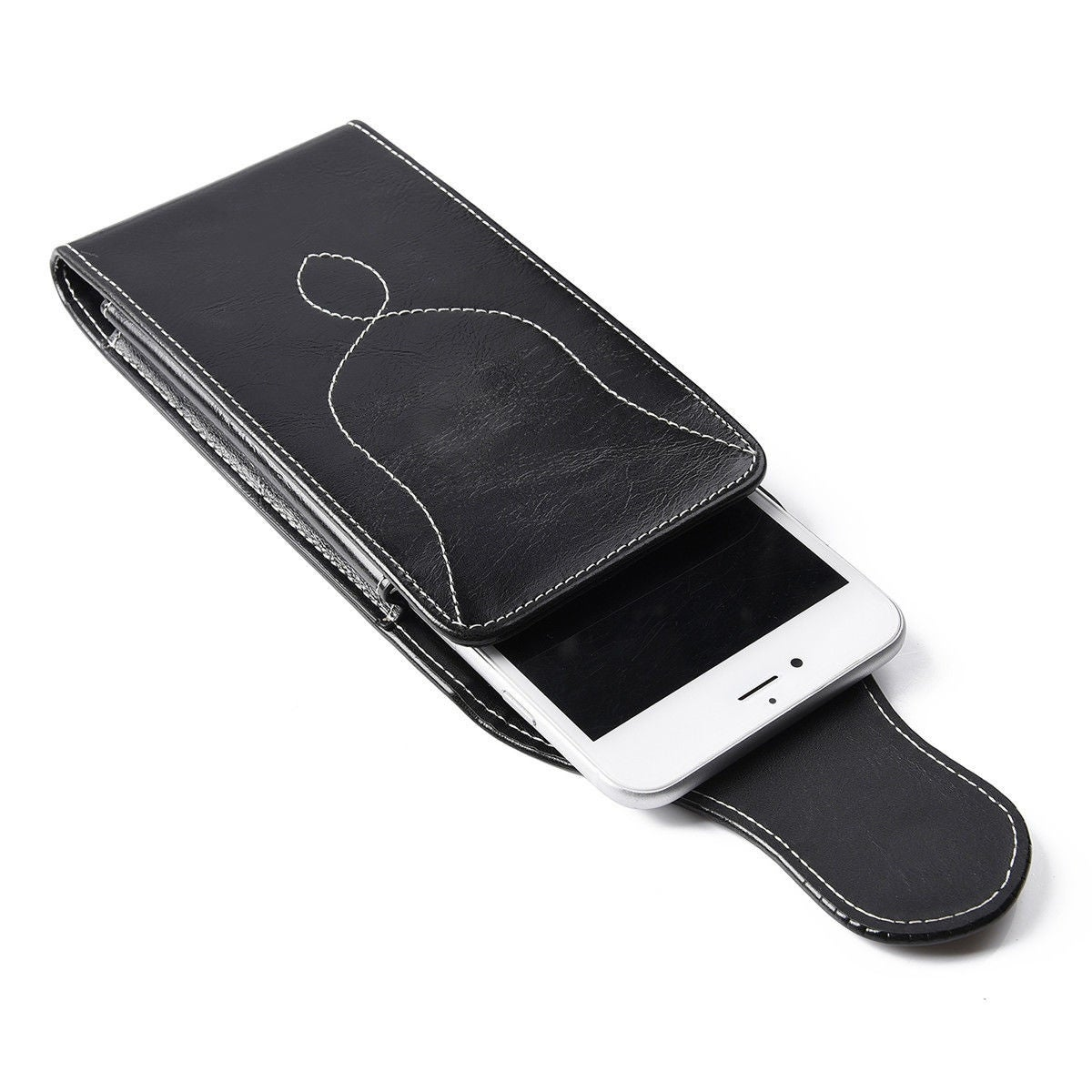 official photos bec2c 3e021 Vertical Leather Case Cover Pouch Holster Belt Clip For Cell Phones