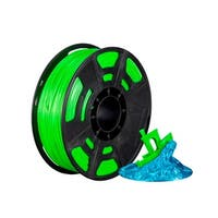 Monoprice Hi-Gloss 3D Printer Filament PLA 1.75mm - 1kg/spool - Green, Works With All PLA Compatible 3D Printers
