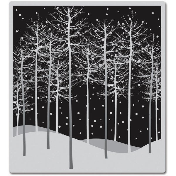 """Hero Arts Cling Stamps 4""""X4""""-Winter Trees"""