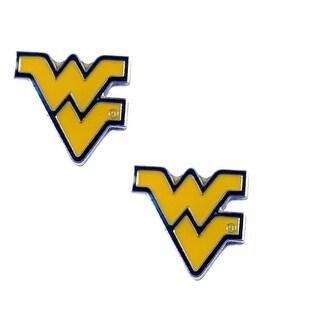 West Virginia Mountaineers Post Stud Earring NCAA Charm Set