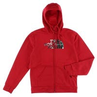 The North Face Mens Camo Dome Hoodie Red - Red/Grey/Black