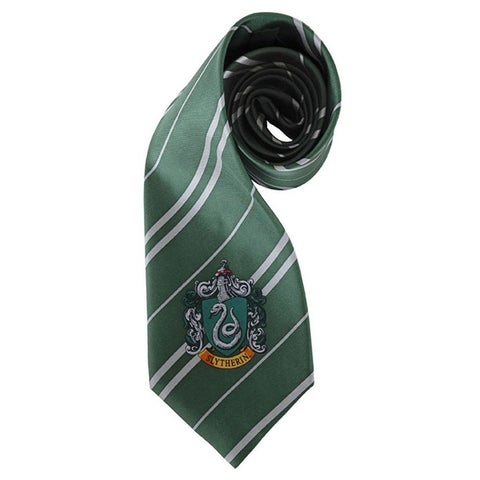 Harry Potter House Slytherin Kid and Adult Costume Necktie - Green