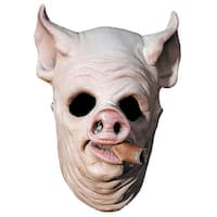 Pig Out Costume Mask - White