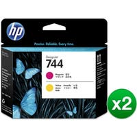 HP 744 Matte Magenta & Yellow DesignJet Printhead (F9J87A)(2-Pack)