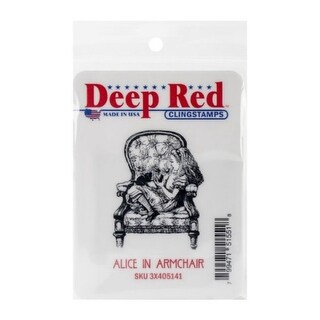 Deep Red Stamps Alice in Armchair Rubber Cling Stamp - 1.6 x 2