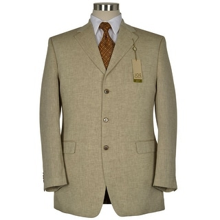 Joseph Abboud Joe X7 Tan Linen and Cotton Sportcoat 44 Long Herringbone Blazer
