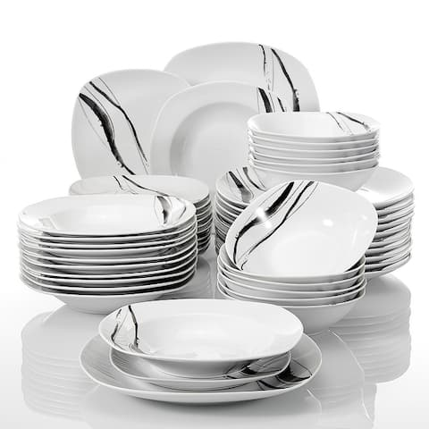 VEWEET 'Teresa' 24-Piece Porcelain Dinner Sets for 6